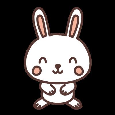笑顔のウサギのイラスト