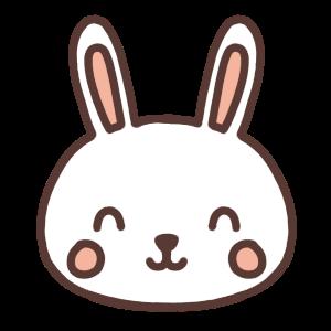 笑顔のウサギのアイコンイラスト