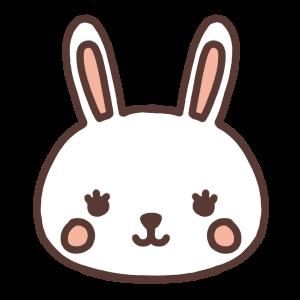 ウサギのアイコンイラスト