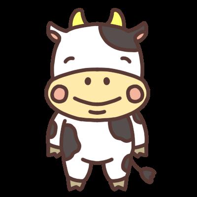 笑う牛のイラスト