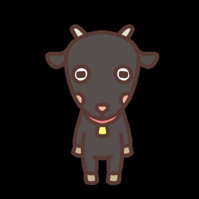 かわいいクロヤギのイラスト