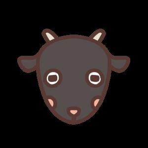 クロヤギのアイコンイラスト