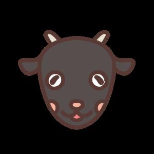 微笑むクロヤギのアイコンイラスト