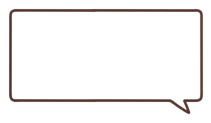 長方形のフキダシのイラスト右下