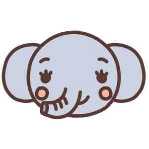 ゾウのアイコンイラスト