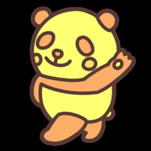 黄色いパンダのイラスト