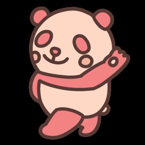 赤いパンダのイラスト