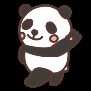 白黒パンダのイラスト
