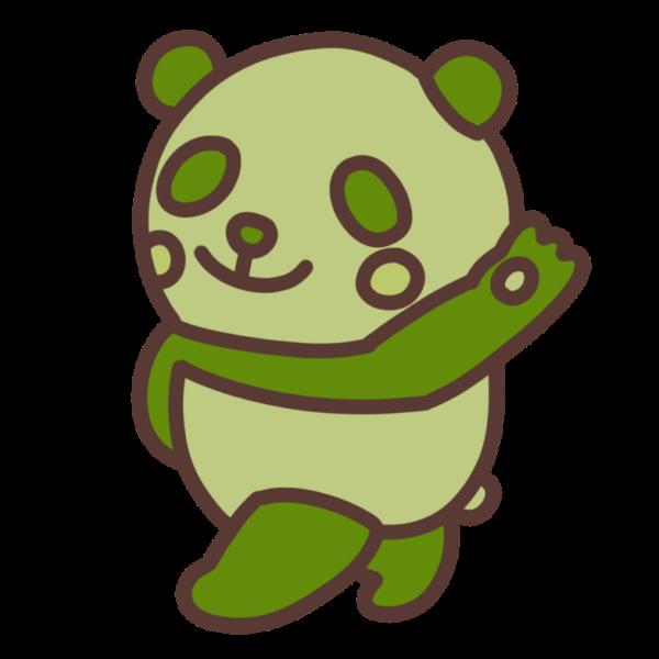 緑色のパンダ