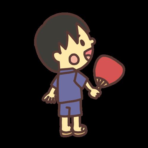 甚平を着た男の子のイラスト