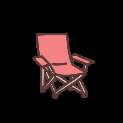 赤い折り畳み椅子のイラスト