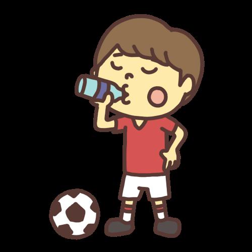 水を飲む子どものイラスト 水分補給