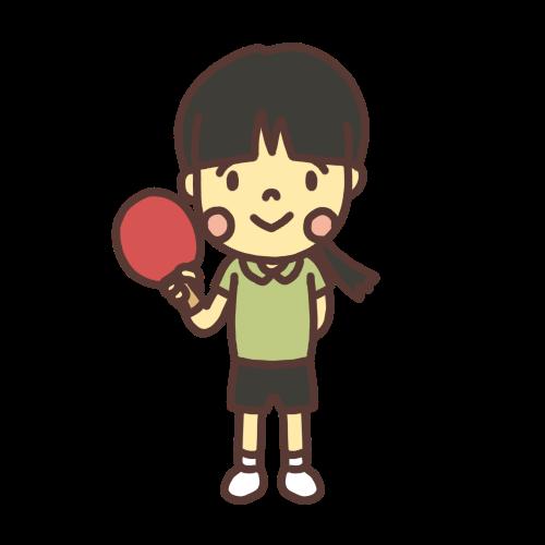 卓球女子小学生のイラスト