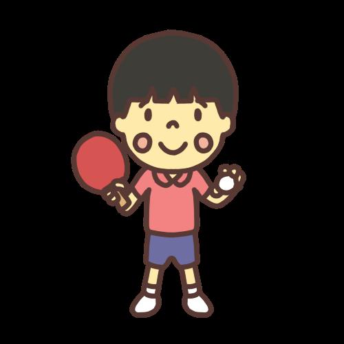 卓球男子小学生のイラスト