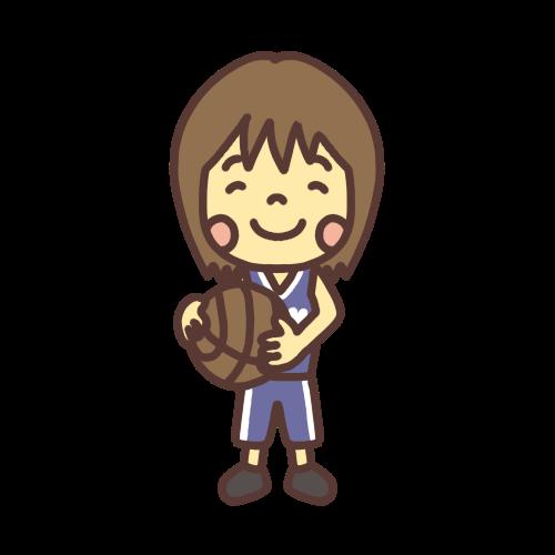 バレーボールを持つ女の子のイラスト