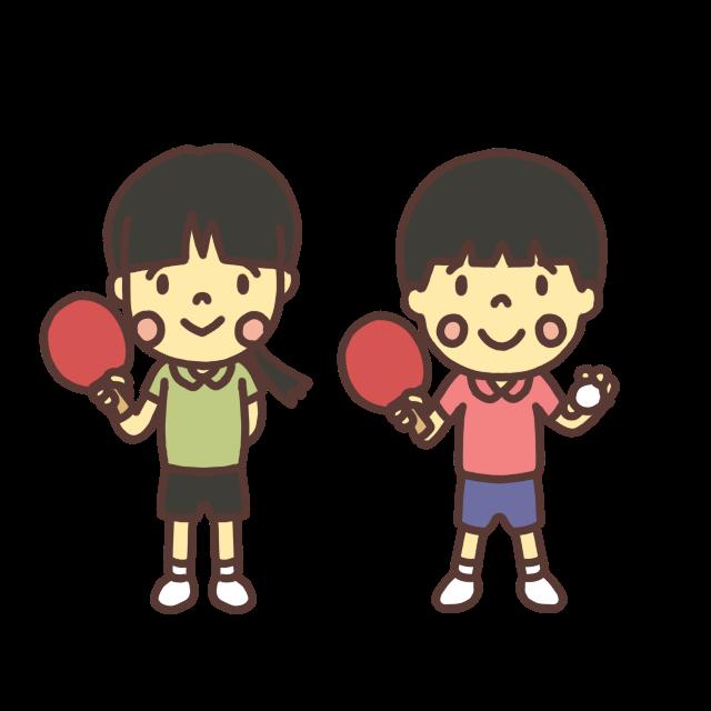 卓球小学生のイラスト