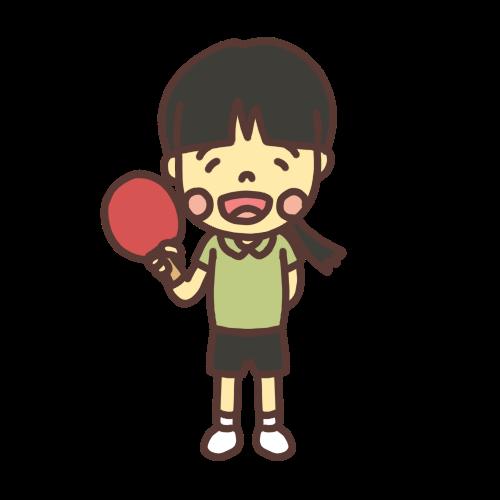卓球少女のイラスト
