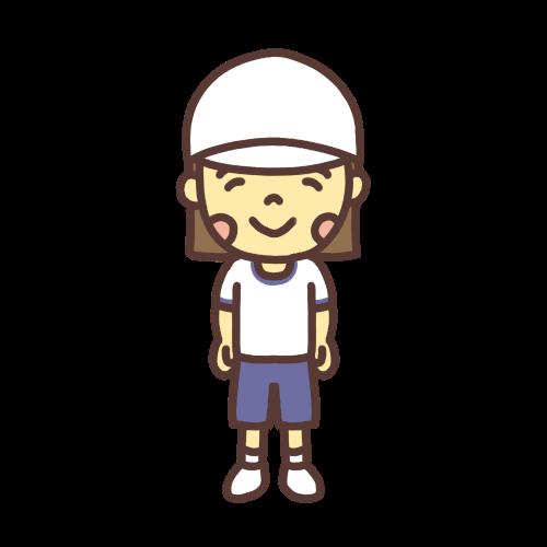 体育着を着た女の子のイラスト