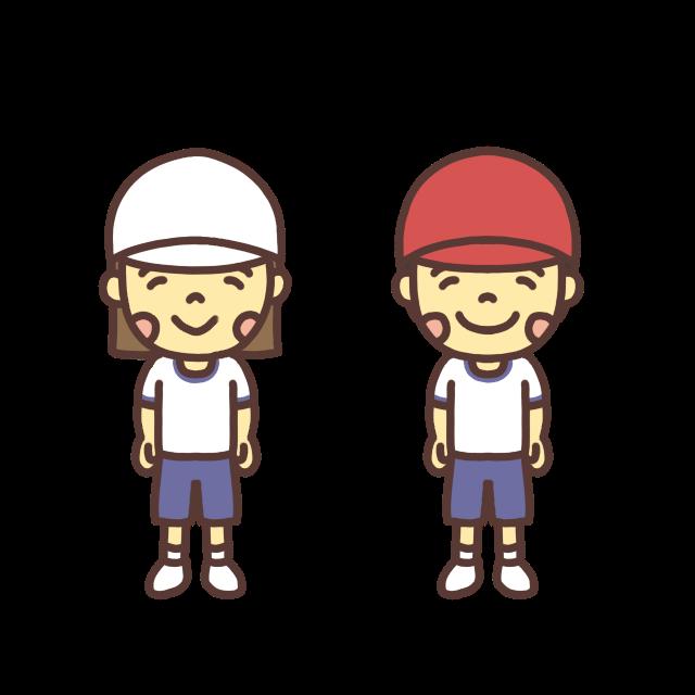 体育着を着た子どものイラスト
