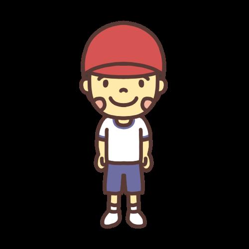 体操着を着た男の子のイラスト