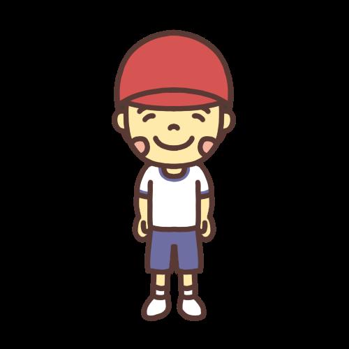 体育着を着た男の子のイラスト