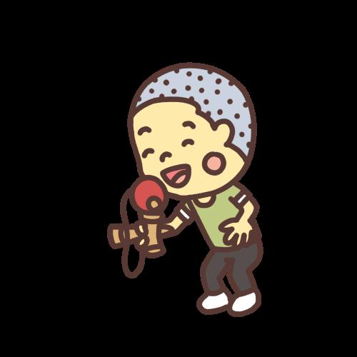 けん玉で遊ぶ男の子のイラストスマイルバージョン