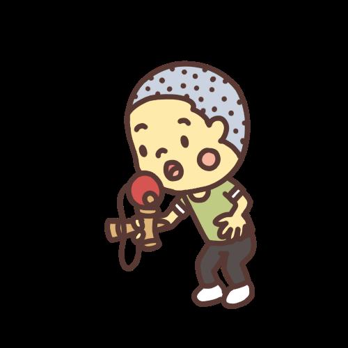 けん玉で遊ぶ男の子のイラスト