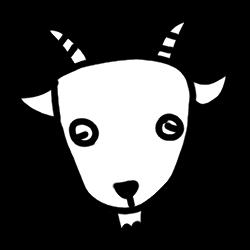 白ヤギの顔のイラスト