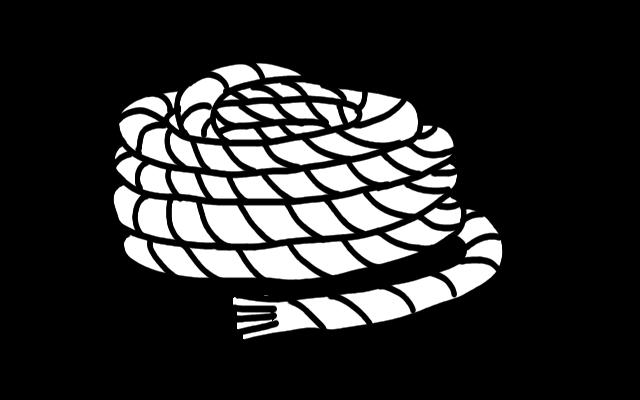ロープのイラスト