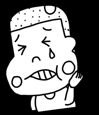 虫歯で歯が痛い子どものイラスト