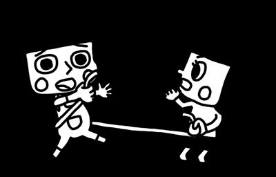 ロープで引き相撲を遊ぶ子どものイラスト2