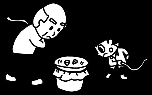 ベーゴマで大人と遊ぶ子どものイラスト