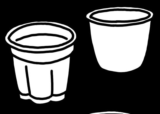 プリンのカップのイラスト