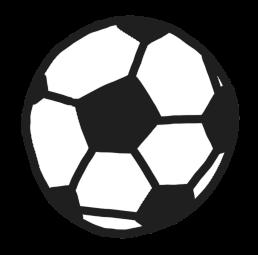 サッカーボールのイラスト 白黒ヤギさん フリー素材イラスト