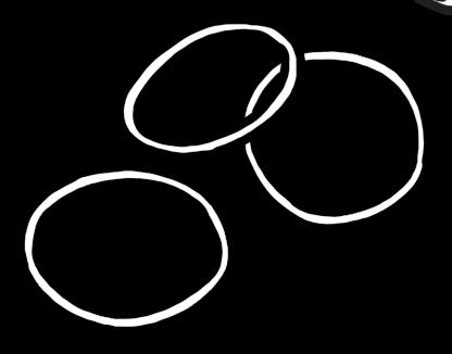 輪ゴムのイラスト