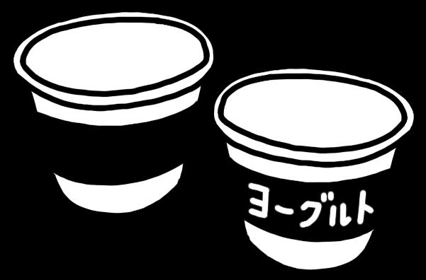 ヨーグルトのカップのイラスト