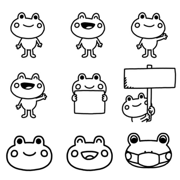 いろいろな種類のカエルのイラスト