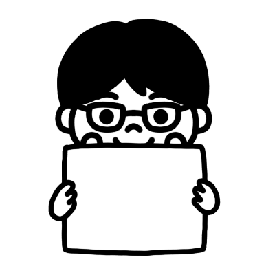 メッセージボードを持つ学制服の男の子のモノクロイラスト