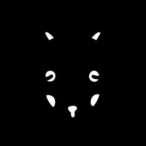 黒ヤギのモノクロアイコンイラスト