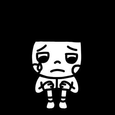 泣き顔の女の子のイラスト